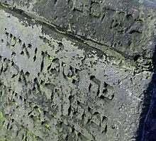 Old jewish graveyard stone by Peter Voerman