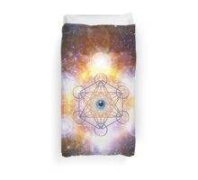 """Aad Guray Nameh""- Merkaba-  Protective energy of the Universe Duvet Cover"