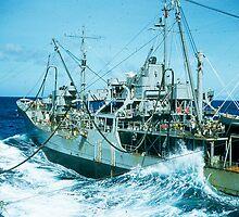 Navy Ships Fueling at Sea by David F Putnam