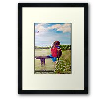 Head In the Clouds, Pole In the Water, Dog In His Heart Framed Print