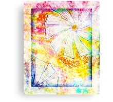 Winter flowers and snowflakes design Canvas Print