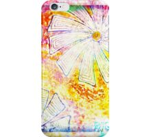Winter flowers and snowflakes design iPhone Case/Skin