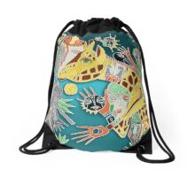 the giraffe Drawstring Bag