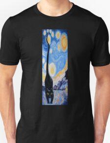 Cat, Moon 'N' Stars Unisex T-Shirt