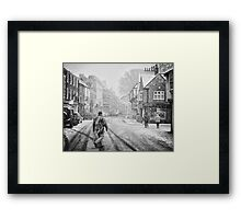 Between Dante's worlds Framed Print