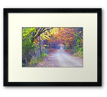 On A Lovely Fall Day Framed Print