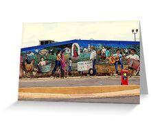 San Antonio Street Mural Greeting Card