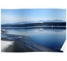 Partial Freeze - Loch Rannoch, Scotland Poster