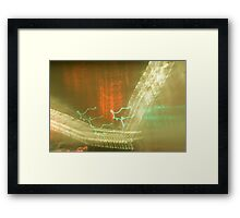 tunnel ride V Framed Print