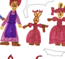 Easter Bunny Family Sticker