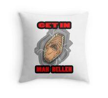 Get In Mah Belleh White Throw Pillow