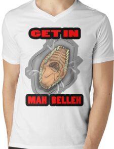 Get In Mah Belleh White Mens V-Neck T-Shirt