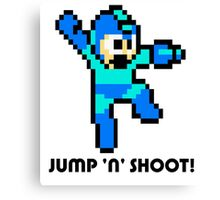 Megaman Jump full cover Canvas Print