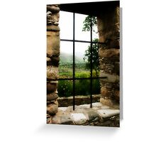 Window with a view.. Greeting Card