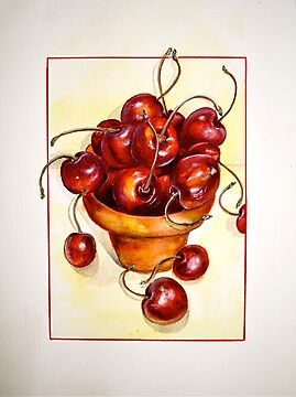 Cherries....Reaching Out by © Janis Zroback