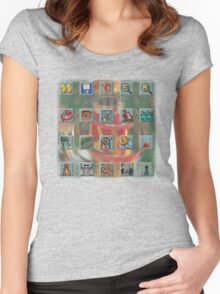 Roller Coaster Tycoon Icons Women's Fitted Scoop T-Shirt