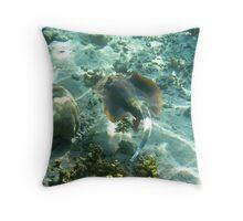Blue Spotted Lagoon Ray - Ningaloo Reef, Australia Throw Pillow