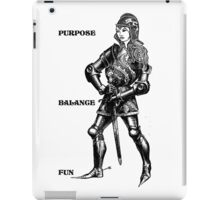 The Armored Lady iPad Case/Skin