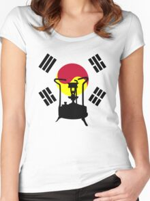 Flag of South Korea | Pressure stove  Women's Fitted Scoop T-Shirt