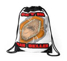 Get In Mah Belleh Orange Drawstring Bag