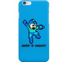 Megaman Jump  Blue full cover iPhone Case/Skin