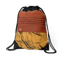 Red Horizon Drawstring Bag