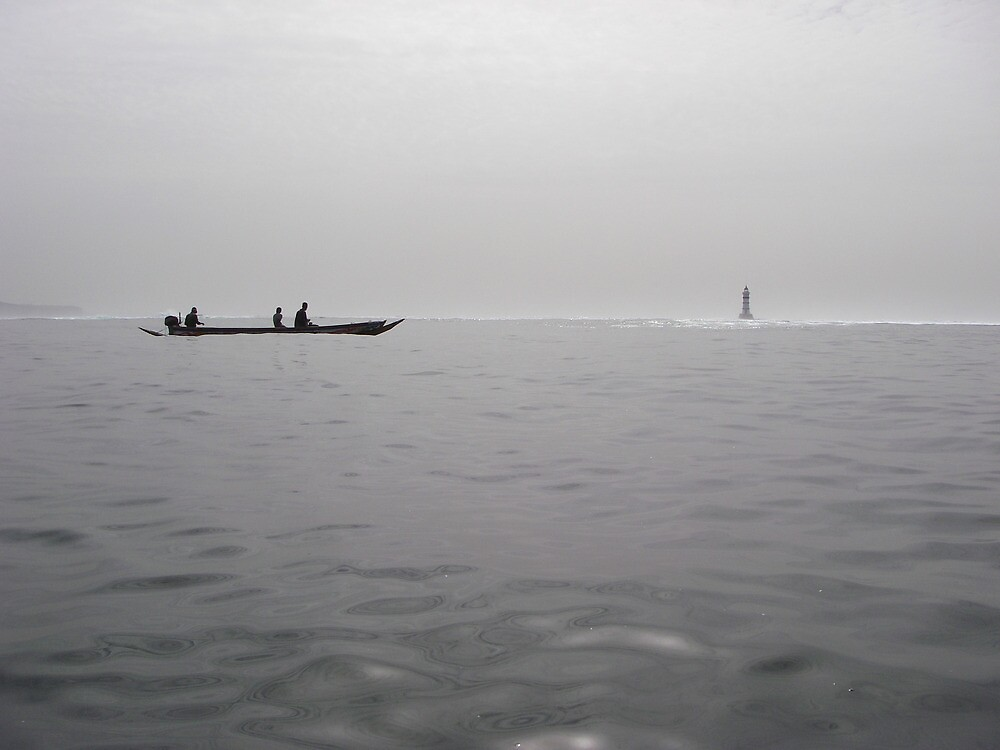 Pirogue at sea by kevomanno