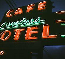 Neon Sign - Loveless Cafe by Eva Wood