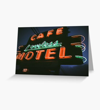 Neon Sign - Loveless Cafe Greeting Card