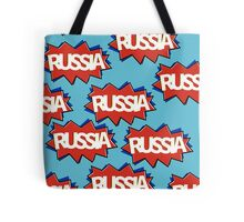 Russian flag starburst Tote Bag