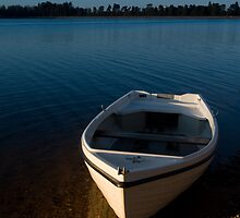 Boat On Cropston Reservoir by Andy Stafford