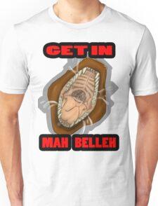 Get In Mah Belleh Brown Unisex T-Shirt