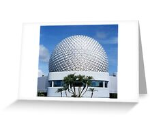 Retro Epcot Ball as seen in 1982 Greeting Card