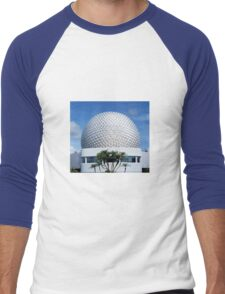 Retro Epcot Ball as seen in 1982 Men's Baseball ¾ T-Shirt