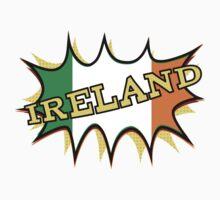 """""""KA-POW"""" Irish Flag Kids Tee"""