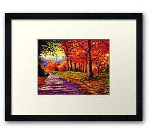 Connecticut Evening Maples Framed Print