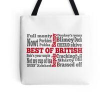 English slang on the St George's Cross flag Tote Bag
