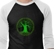 Celtic Tree (Green version) Men's Baseball ¾ T-Shirt