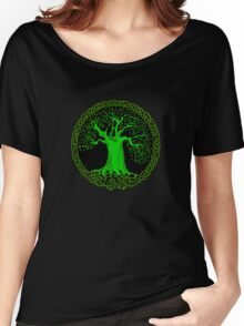 Celtic Tree (Green version) Women's Relaxed Fit T-Shirt