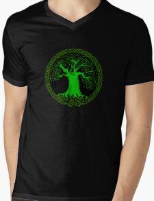 Celtic Tree (Green version) Mens V-Neck T-Shirt