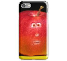RED APPLE FACE iPhone Case/Skin