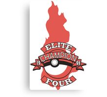 Elite Four Champion Flame Canvas Print