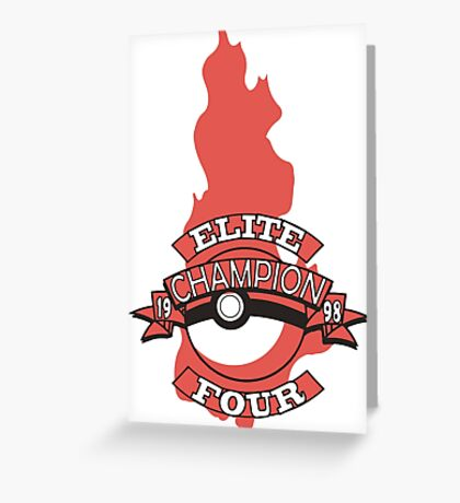 Elite Four Champion Flame Greeting Card