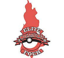 Elite Four Champion Flame Photographic Print