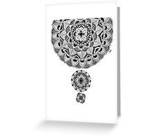 Black and white flower mandala Greeting Card