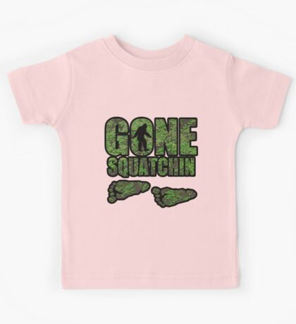 Gone Squatchin woodland  Kids Tee