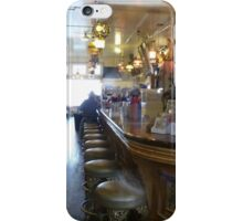 Haunted? What sits on the 2nd bar stool in front? iPhone Case/Skin