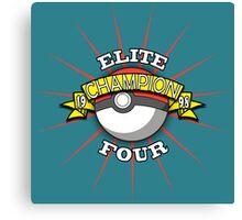 Elite Four Champion Canvas Print