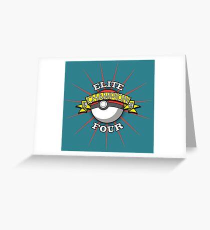 Elite Four Champion Greeting Card