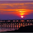 sunset over lake ponchartrain by leapdaybride